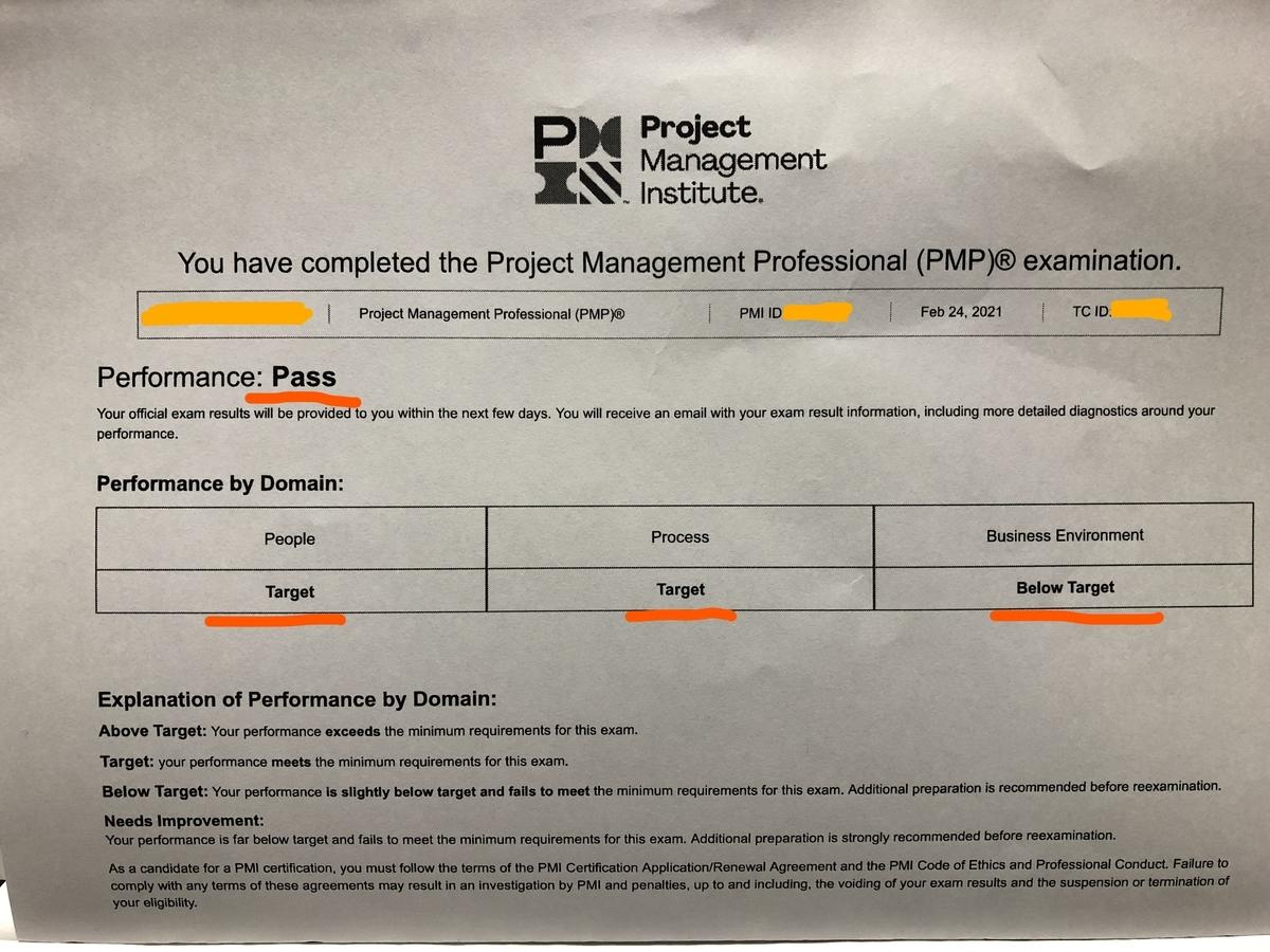 2021年 新PMP試験合格