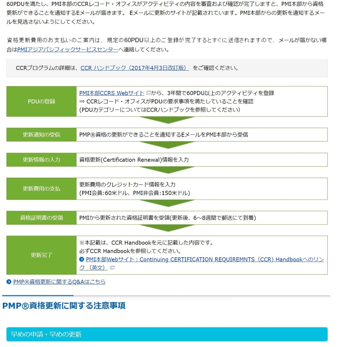 PMP試験対策ブログ PDU申請 PMPの更新