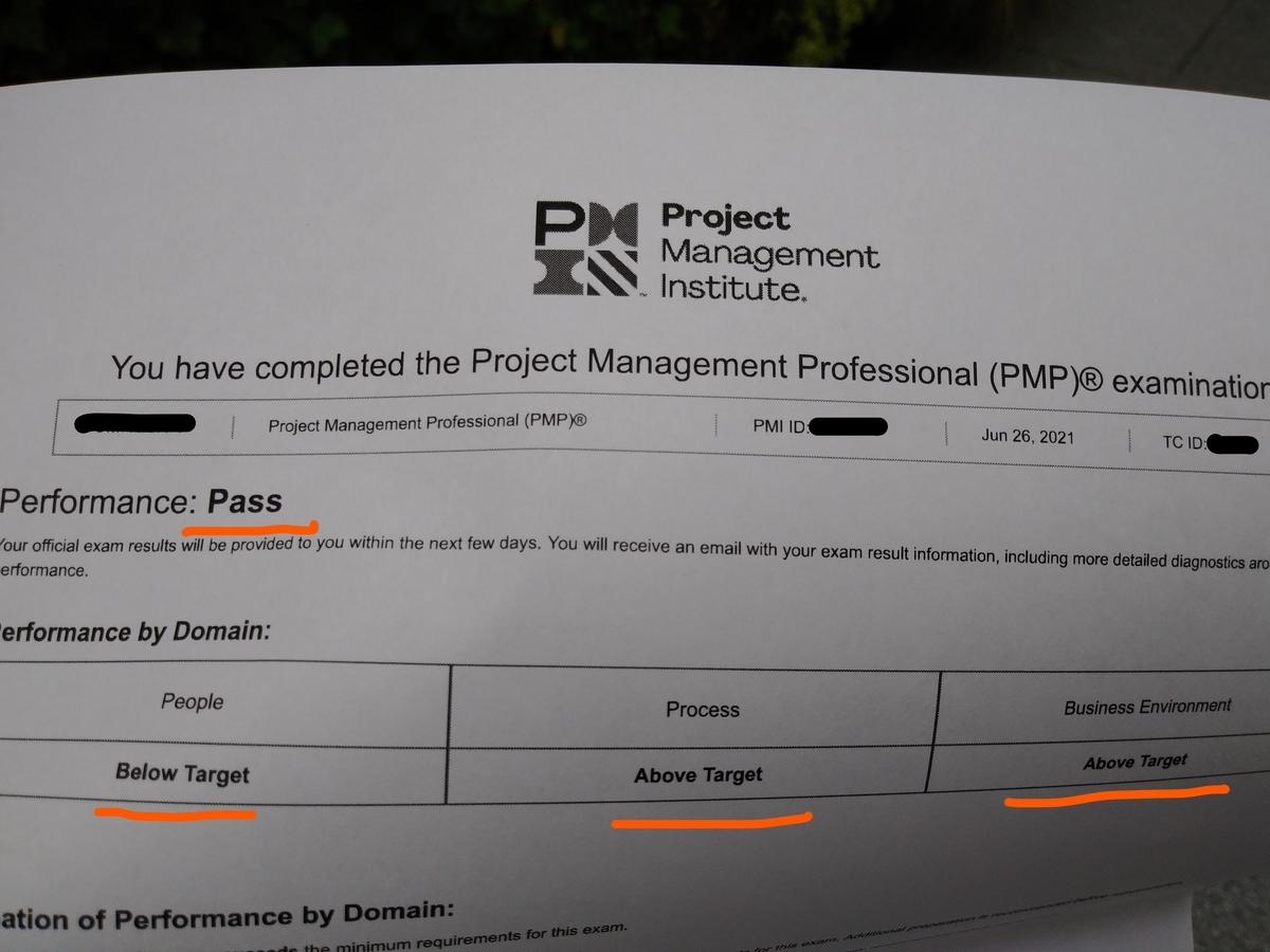 PMP試験対策 2021年6月26日 Targetで合格