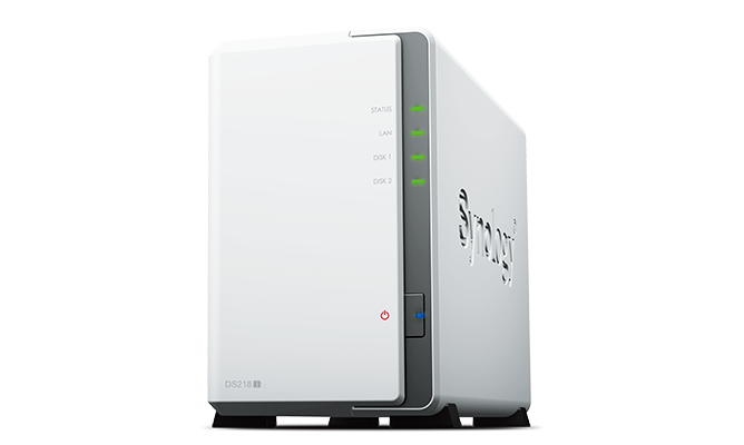 NAS Synology DS218J 外付けHDD