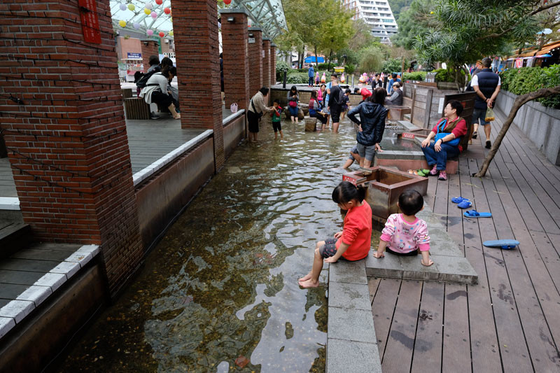 湯囲温泉公園の足湯