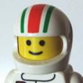 [LEGO][アイコン][クルマ][F1]白ヘルメット