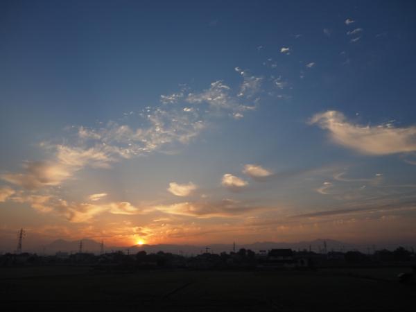 朝焼け(2015年10月20日)