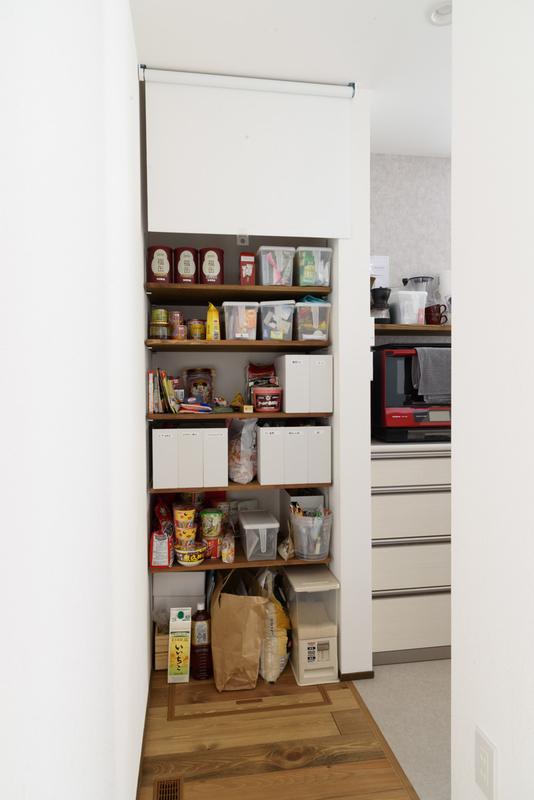 キッチン 回遊 可動棚