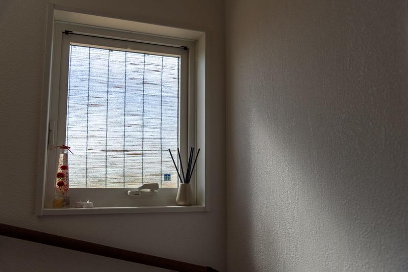 西日対策 猛暑対策 縦すべり出し窓 遮熱 簾 すだれ