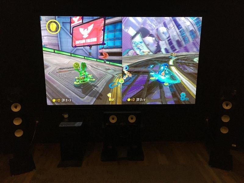シアターハウス BTP2214WEM シアタールーム 100インチ スクリーン ONKYO D−509 ホームシアター ゲーム