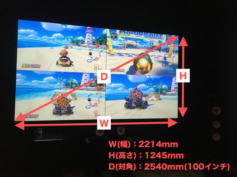 シアターハウス BTP2214WEM シアタールーム 100インチ スクリーン ONKYO D−509 ホームシアター ゲーム サイズ