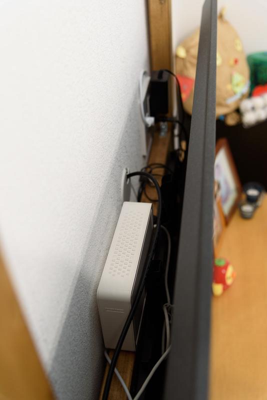 ラブリコ 録画用HDD リビング テレビ裏 DIY