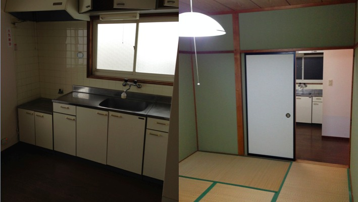 キッチンと居室