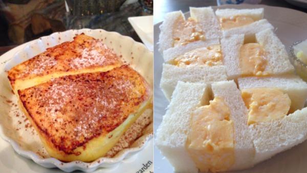 フレンチトーストとタマゴサンド