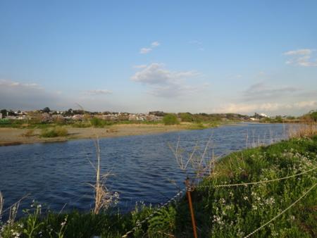 川は穏やかでした