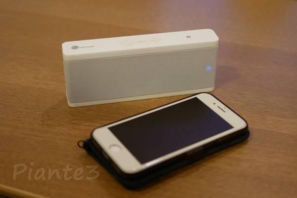 ワイヤレススピーカー TT-SK09 ホワイトとiPhone7