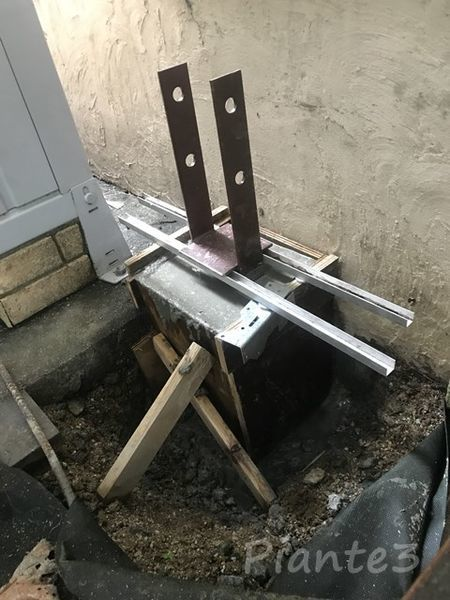 DIY基礎型枠コンクリート流し込み終了