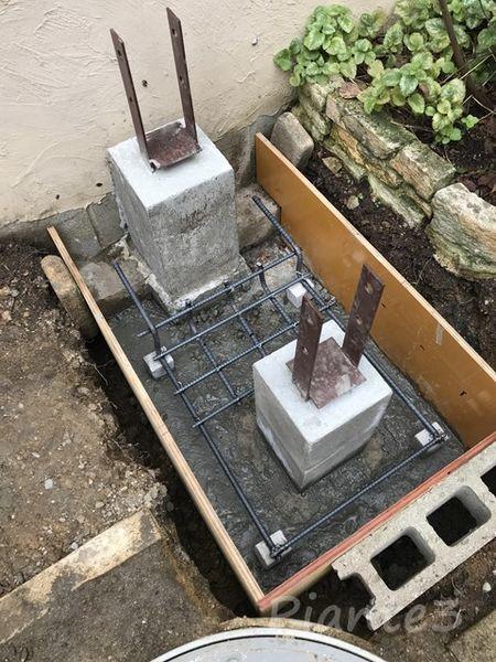 DIY基礎型枠鉄筋設置