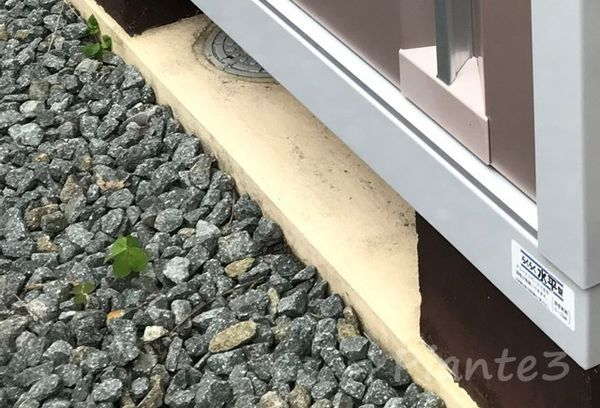 ペイントクリート彩での物置き基礎塗装