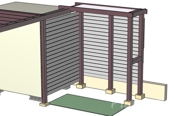 シーティングアーバー横張りのイメージ図