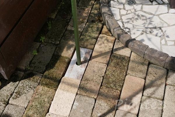 ホルソーで穴開けした木材