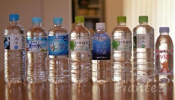 利き水に使う天然水ペットボトル