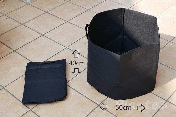 不織布の鉢の写真