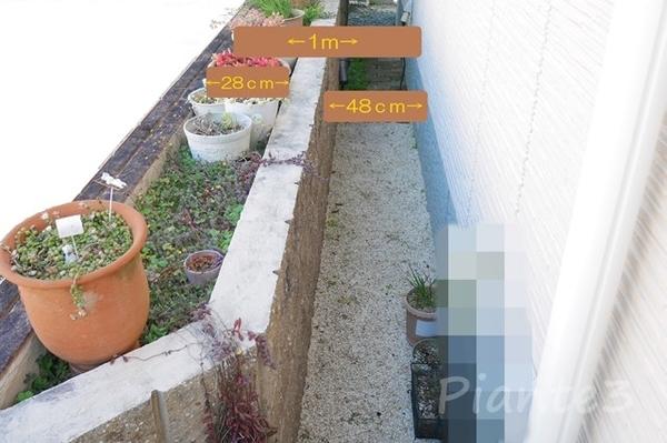 お家の周りのデッドスペースを花壇にした写真