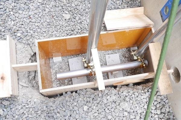 単管基礎型枠の写真