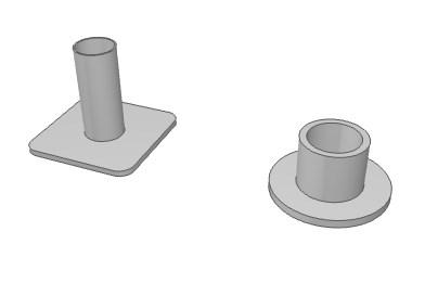 単管パイプ固定ベースのイラスト