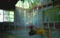 廃墟の小屋の内部