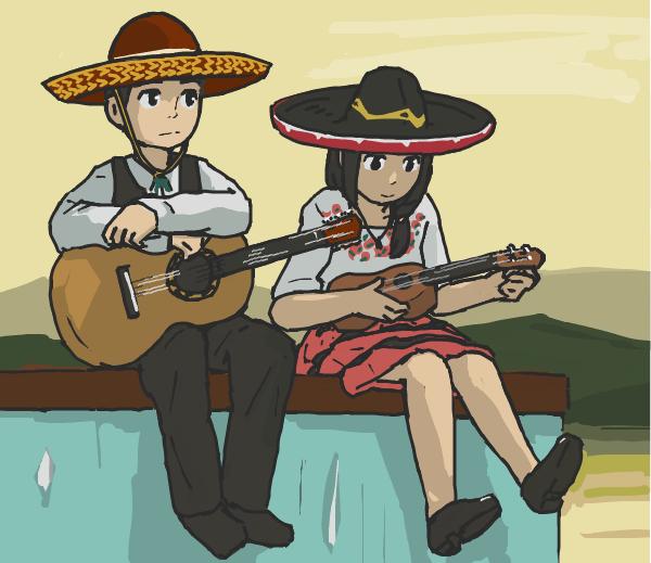 はてなハイカーさん、メキシコだしソンブレロかぶった子のイラスト欲