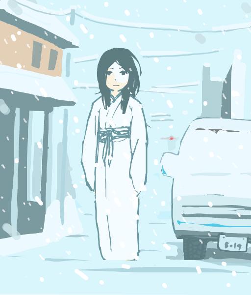 はてなハイカーさん、雪降ってきたし雪女のイラスト欲しい!
