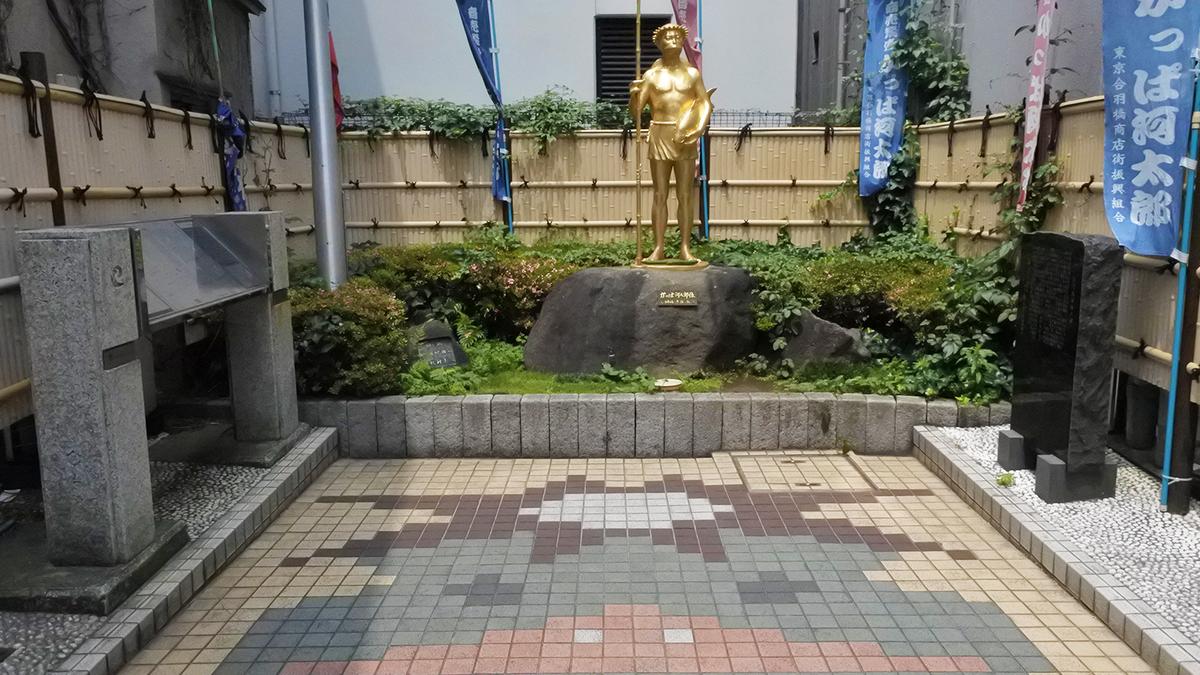 さらざんまい 聖地巡礼 かっぱ河太郎像