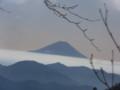 標高二千メートルあたり、急登の取っつきから富士山