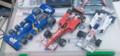 F1ペーパークラフト3台