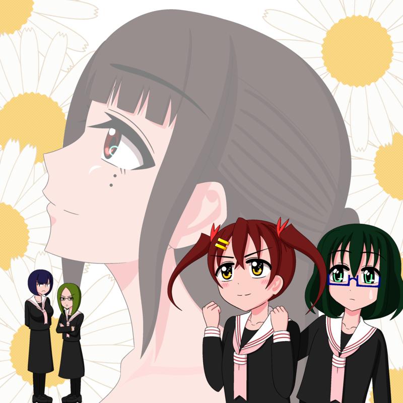 「百合少女交響曲♪」トップ絵2(完全版)