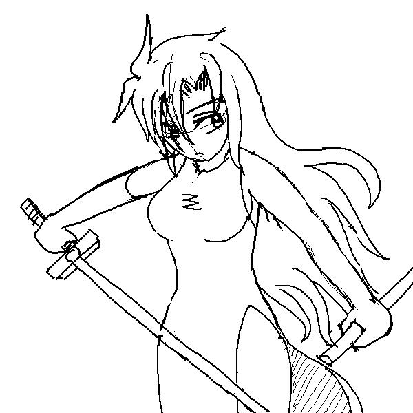 2012~2013年頃に描いたFAの没下書き