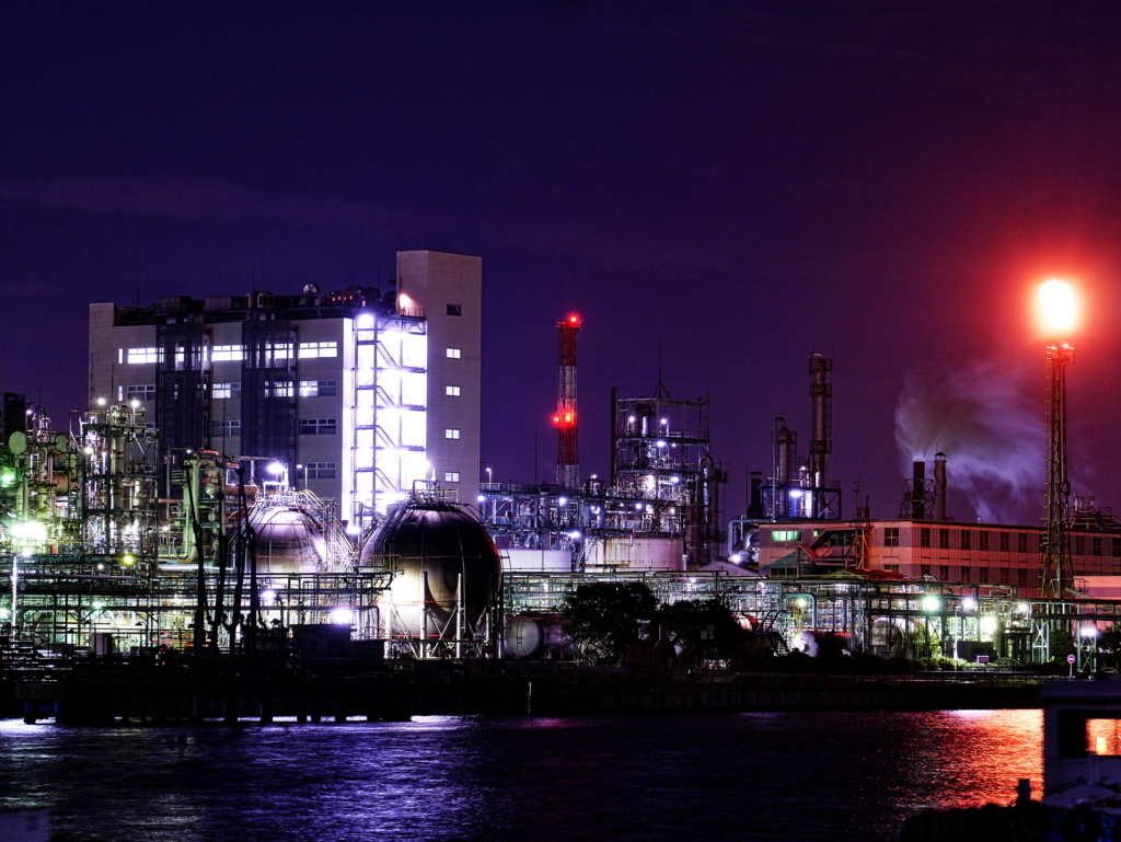LUMIX PZ 45-175mm | 作例 | 川崎千鳥町 工場夜景 8