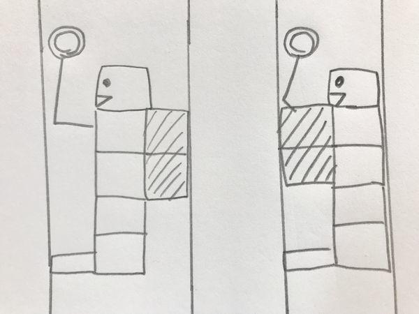 満員電車でリュックを背中からおろさない人と、リュックを前に抱えて持つ人