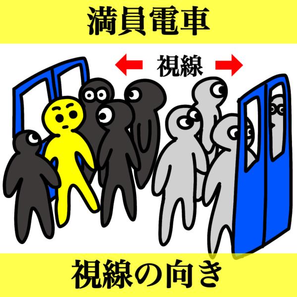 満員電車でドアの前に立ちよりかかる迷惑行為