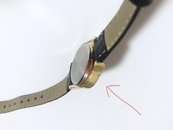 シチズンのレディース腕時計QA37-102の裏ぶた