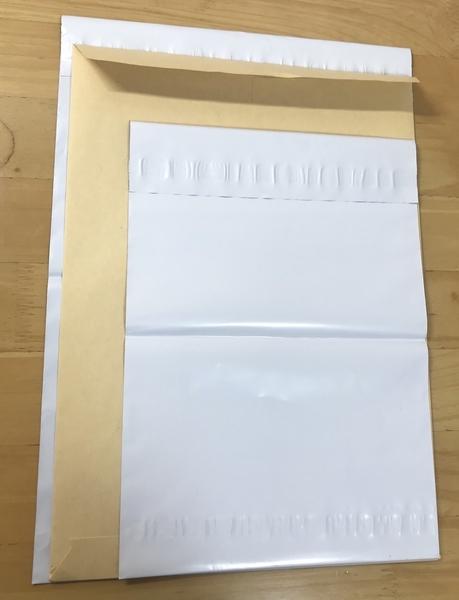 100円ショップキャンドゥの宅配ビニール袋の画像
