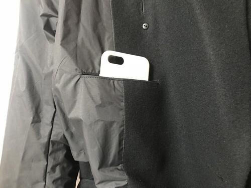 ユニクロとジルサンダーコラボ+Jのダブルブレストコートの内ポケット画像