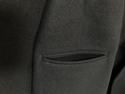 ユニクロとジルサンダー+Jのダブルフェイスダブルブレストコートの外ポケット