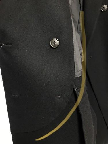 ユニクロとジルサンダーのダブルフェイスダブルブレストコートのレビュー画像