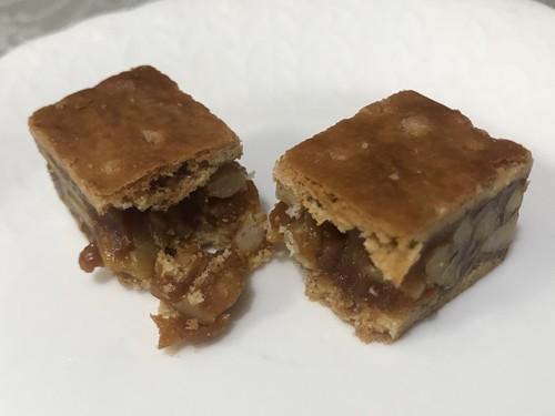 鎌倉のお菓子土産のおすすめ紅谷のクルミっ子の断面画像