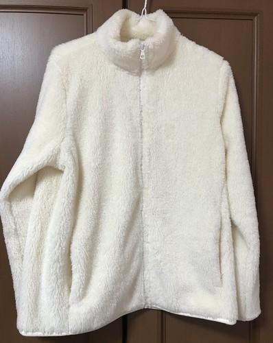 ユニクロのファーリーフリースフルジップジャケットの洗濯検証画像