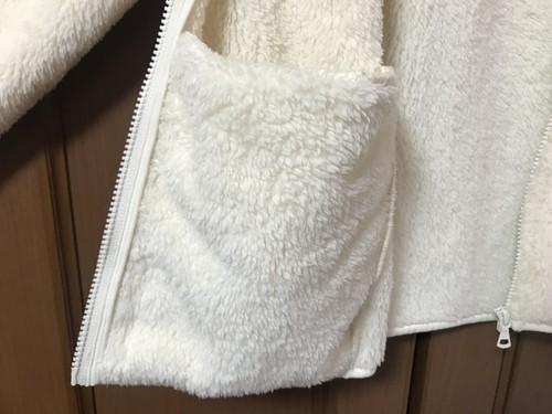 ユニクロのファーリーフリースフルジップジャケットの内ポケット画像