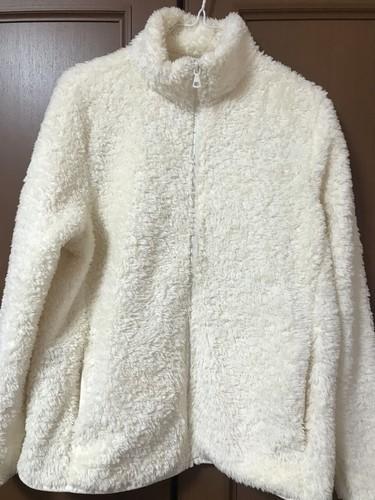 ユニクロのファーリーフリースフルジップジャケット洗濯後の画像
