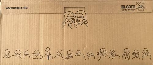 ユニクロと長場雄のクリスマスコラボ段ボール箱の画像
