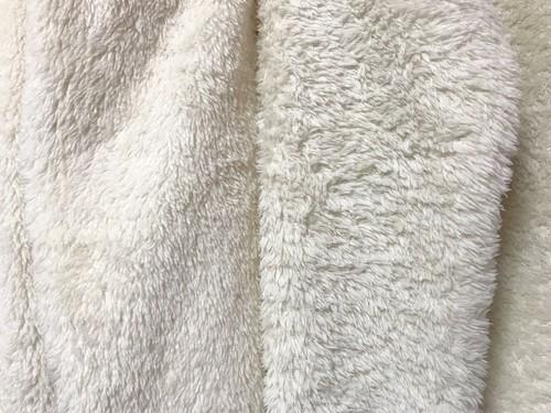 ユニクロのファーリーフリースフルジップジャケット2020洗濯後の画像