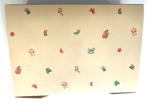 ベルンの世界のクリスマスお菓子のボックスデザイン画像