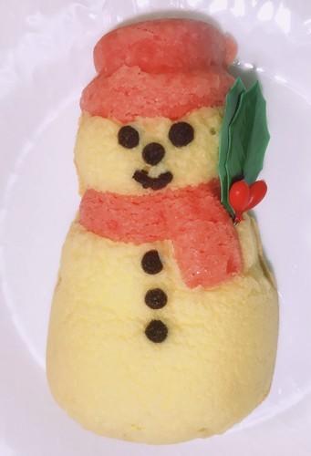 ベルンの世界のクリスマスお菓子のスノーマンバナナケーキ画像